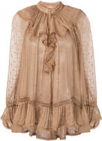 Zimmermann frill trimmed blouse
