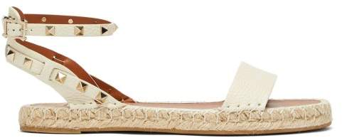 3582a499876 Rockstud Leather Espadrille Sandals - Womens - Cream