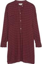 Etoile Isabel Marant Peneloppe checked flannel mini shirt dress