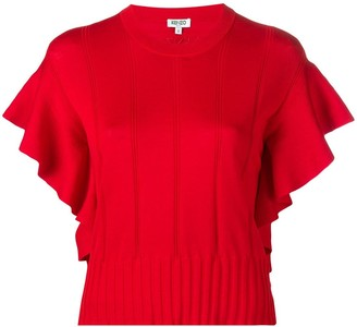 Kenzo Ruffle-Trimmed Knitted Top
