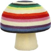 Anne Claire Mix Stripe Mushroom Crochet Pouf
