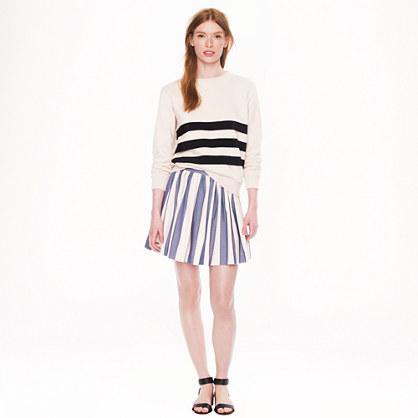 Kitsune Maison stripe skater skirt