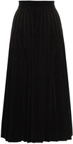 Saint Laurent Pleated velvet midi skirt