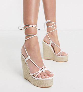 Simmi Shoes Simmi London Exclusive Monique colour drench espadrille in white