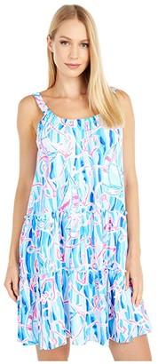 Lilly Pulitzer Loro Dress (Skim Blue Reel Nauti) Women's Clothing