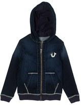 Boy's True Religion Brand Jeans Zip Denim Hoodie
