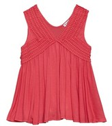 Splendid Girls' Lace-trim Tank.