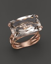 Vianna Brasil 18K Rose Gold Ring with Murion Quartz and Diamond Accents
