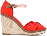 Tommy Hilfiger wedged sandals - women - Cotton/Leather/rubber - 36