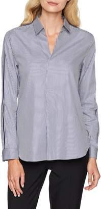 Seidensticker Women's 226241 Regular Fit Classic Long Sleeve Blouse - Blue - 16