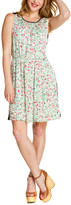 Joie Bardeaux Silk-Blend Print Dress With Solid Back