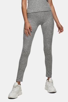Topshop Womens Grey Cosy Leggings - Grey Marl