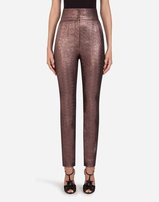 Dolce & Gabbana Lame Fabric Pants