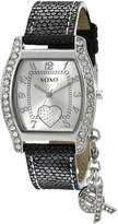 XOXO Women's Lizard Strap with XO Charm Watch XO3089