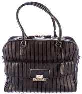 Anya Hindmarch Striped Leather Satchel
