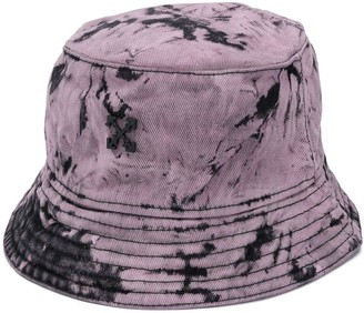 Off-White Marble-Effect Bucket Hat