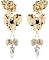 Pansy & Spikes Clip-On Earrings