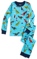 Hatley Boy's Roaring T-Rex Organic Cotton Fitted Two-Piece Pajamas