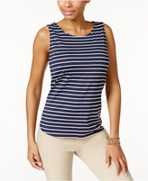 Charter Club Striped Tank Top, Only at Macy's