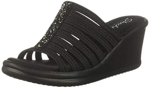 3cee59ddca822 Women's Rumblers Galore-Rock Glitter Multi-Strap Slide Wedge Sandal