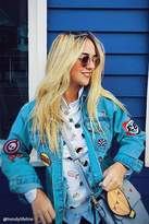 Forever 21 FOREVER 21+ Graphic Patch Denim Jacket