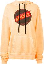 Unravel Project - logo print hoodie - women - Cotton - S