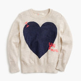 J.Crew Girls' 'I love you more' sweater