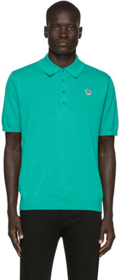 Paul Smith Green Knit Zebra Polo