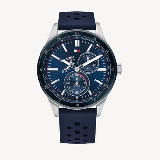 Tommy Hilfiger Sport Watch With Navy Silicone Strap
