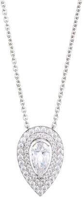 Adriana Orsini Rhodium-Plated Sterling Silver & Cubic Zirconia Teardrop Pendant Necklace