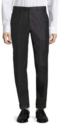 Brioni Phi Dress Wool Flat Front Trousers