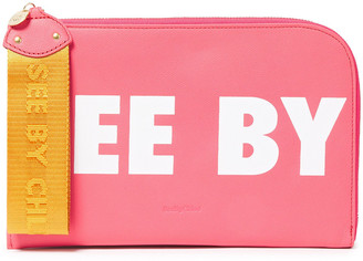 See by Chloe Joris Logo-print Leather Pouch