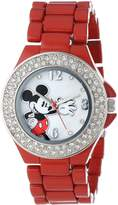 Disney Women's Mickey Mouse Dial Enamel Bracelet Watch Mother-Of-Pearl MK2071