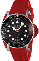 Gucci Ya136309 Dive Stainless Steel And Rubber Watch
