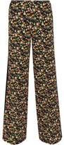 Tory Burch Folly Floral-Print Crepe Wide-Leg Pants