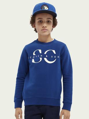Scotch & Soda Logo crewneck cotton sweater | Boys