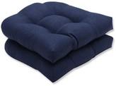 Tywonne Indoor/Outdoor Chair Seat Cushion Wrought Studio Fabric: Indigo