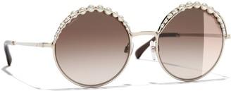 Chanel Round Sunglasses CH4234H Gold