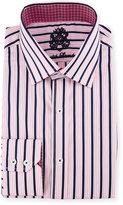 English Laundry Striped Long-Sleeve Dress Shirt, Pink