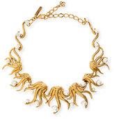 Oscar de la Renta Sea Swirl Statement Necklace, Light Gold