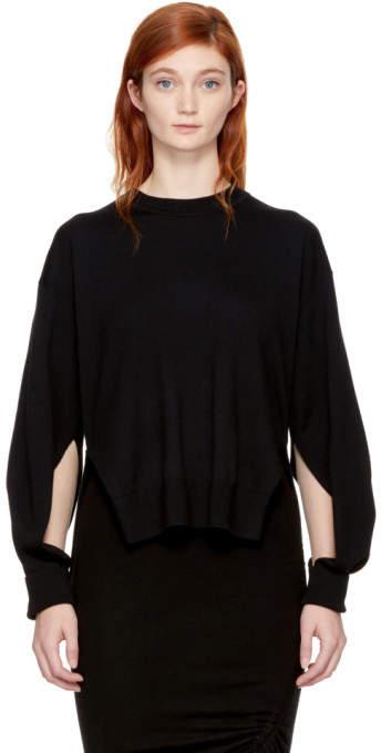 Alexander Wang Black Twisted Sleeve Sweater