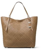 Michael Kors Hutton Woven Leather Tote