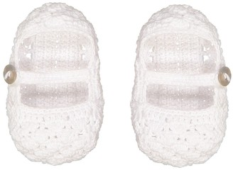 Loralin Design Girls' Infant Booties and Crib Shoes White - White Mary Jane Booties - Girls