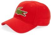 Lacoste Men's 'Big Croc' Logo Embroidered Cap - Red