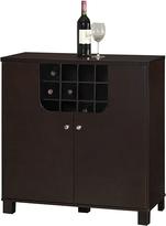 Baxton Studio Dark Brown Murano Modern Dry Bar & Wine Cabinet