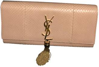 Saint Laurent Pompom Kate Pink Leather Clutch bags