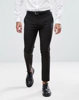 Asos Design DESIGN super skinny cropped smart trousers in black