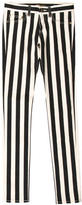 Saint Laurent Striped Skinny-Leg Jeans