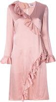 MSGM frill-trim dress - women - Polyester/Acetate/Viscose - 40