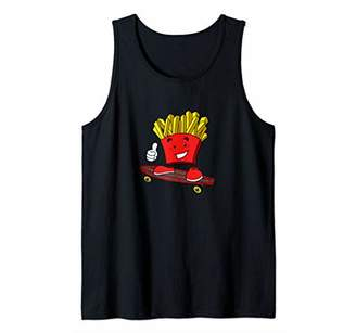 Funny French Fries Fried Potatoes Skateboard Tank Top